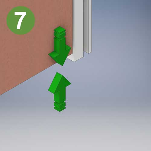 Threshold gaps are machined to suit your floor finishes and build program whilst ensuring that the essential 7mm required for fire doors is not exceeded. (3mm on smoke doors without dropdown seals) icon