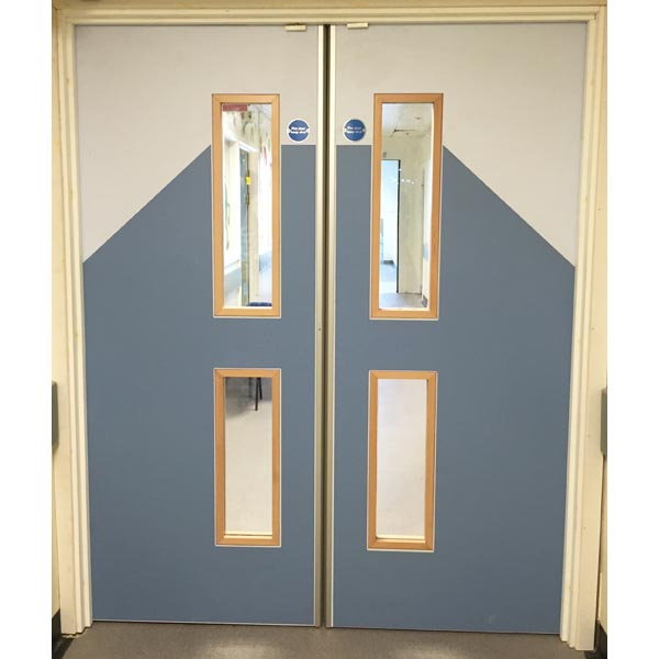 Laminate doors with PVC face protection at The Children's Hospital Sheffield