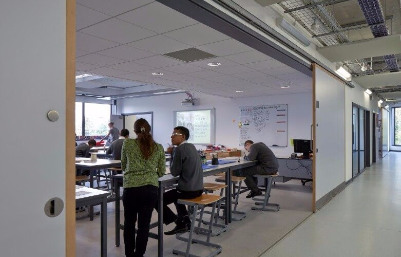 Bespoke sliding doors to provide flexible learning spaces