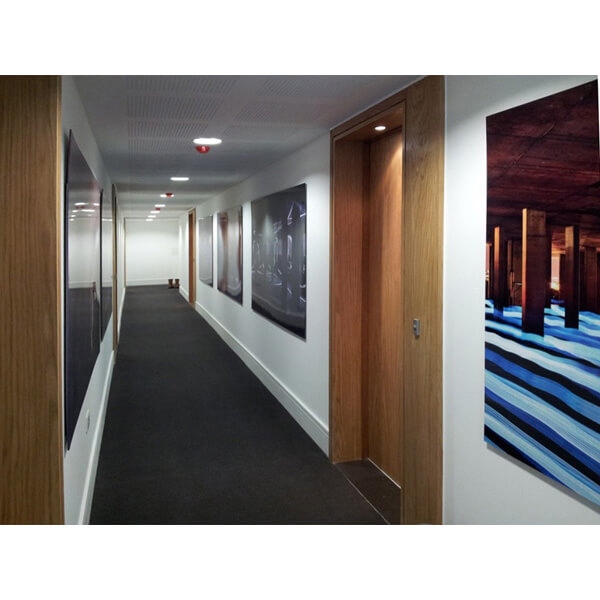 American White Oak Doorsets in the Communal Corridor at Clapham One, London
