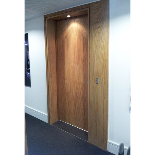 American White Oak PAS24 Front Entrance Doorsets with Side Portals at Clapham One, London