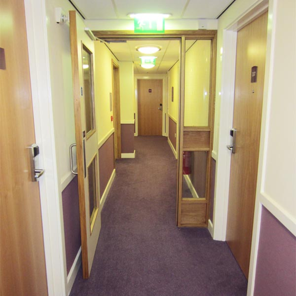Angre Veneered Doorsets and American Oak Glazed Screens at the Premier Inn, Liverpool