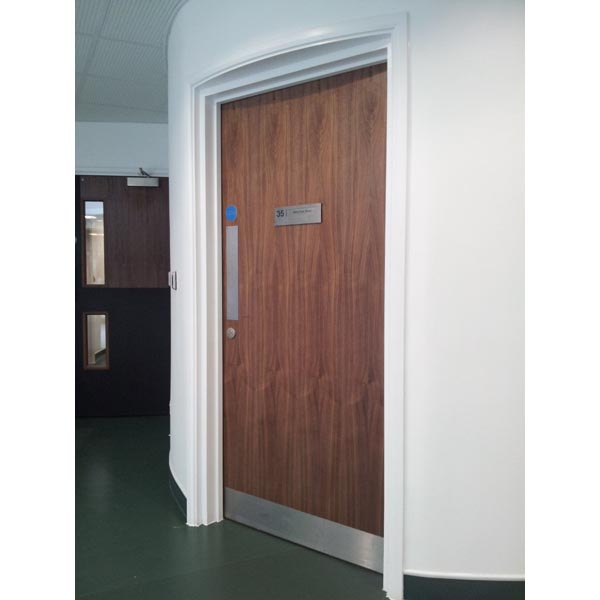 Veneered Doorset for a Curved Feature Wall at the Primary Care Unit, Clapham
