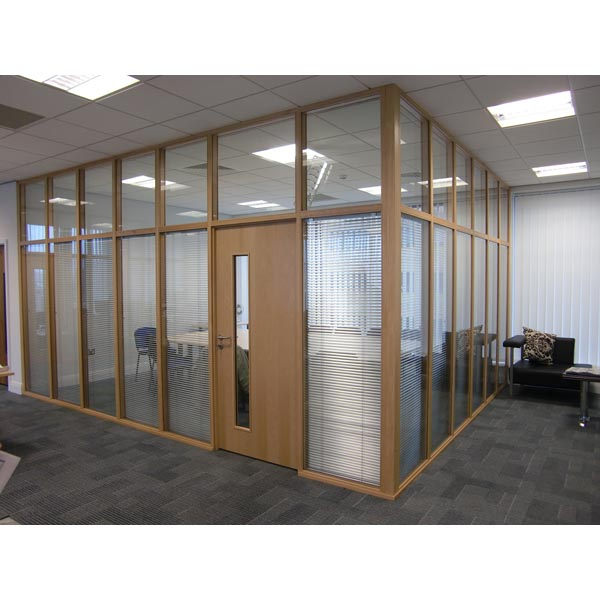 Glazed Screens with integral blinds at an Office Development, Broad Street, Sheffield