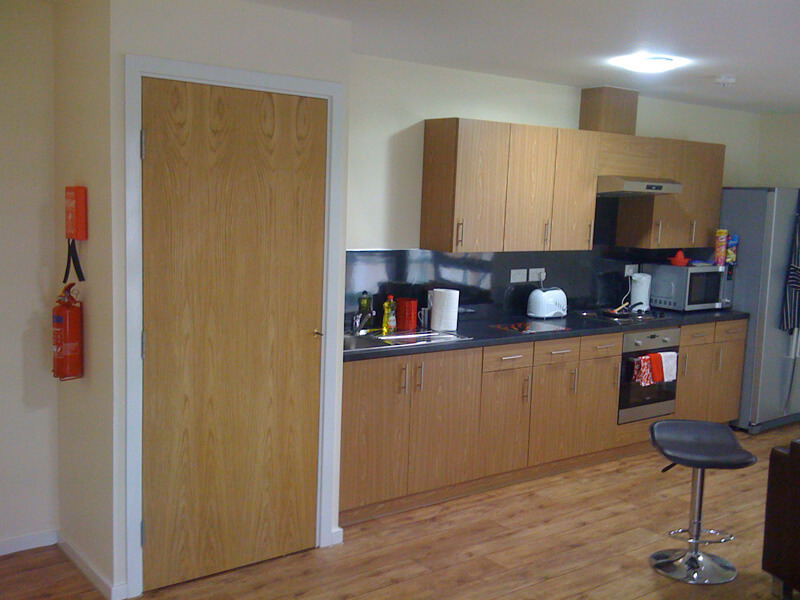 American White Oak Veneer Kitchen Cupboard Doorsets at Orwell Quay, Ipswich