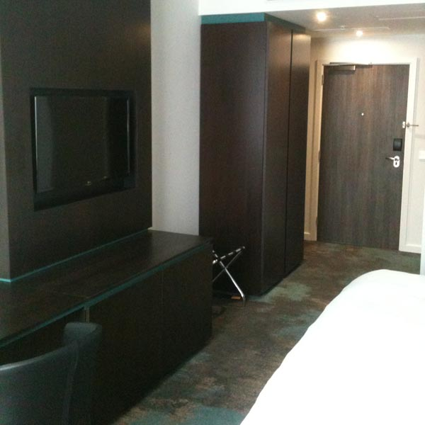 Egger Laminate Doorsets for this concept bedroom for a luxury hotel in Leeds
