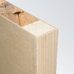 MDF Substrate, Softwood Frame, Hollow Core, Lipped Long Edges (Exposed)