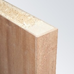 Plywood Face, Softwood Framed, TubeCore, Lipped Long Edges (Exposed) - FD30