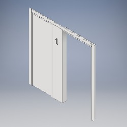 Side Panel Portal with Integrated Riser Door
