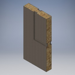 Solid Core with Grooving into Solid Timber - FD60