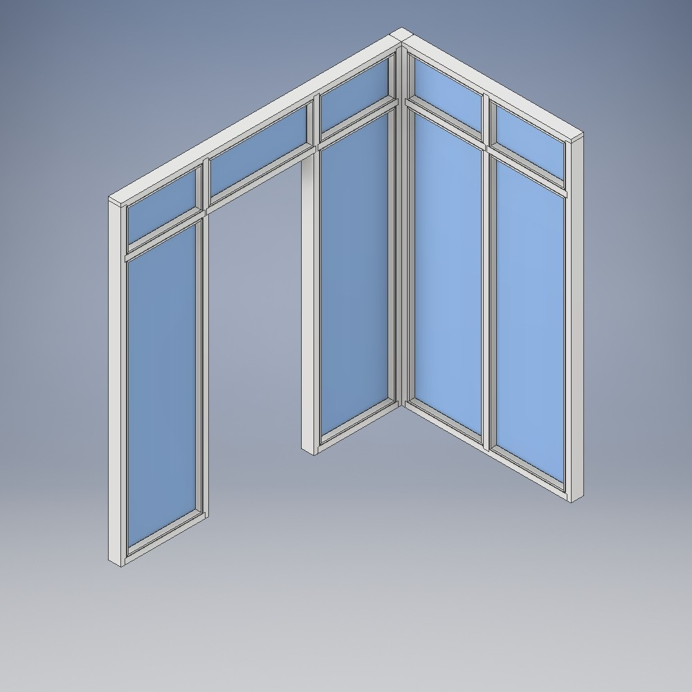 Doorsets with Multi-Pane Corner Screens