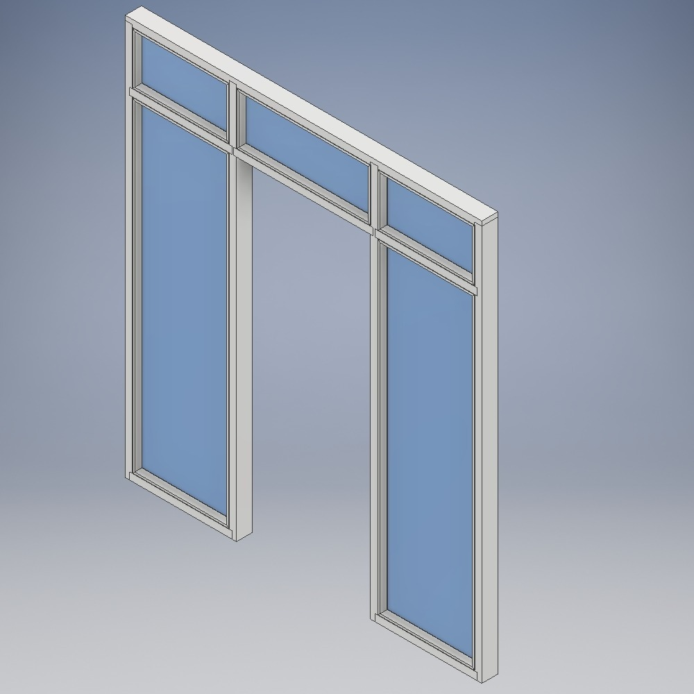 Doorsets with Side Screen both sides and Fanlights
