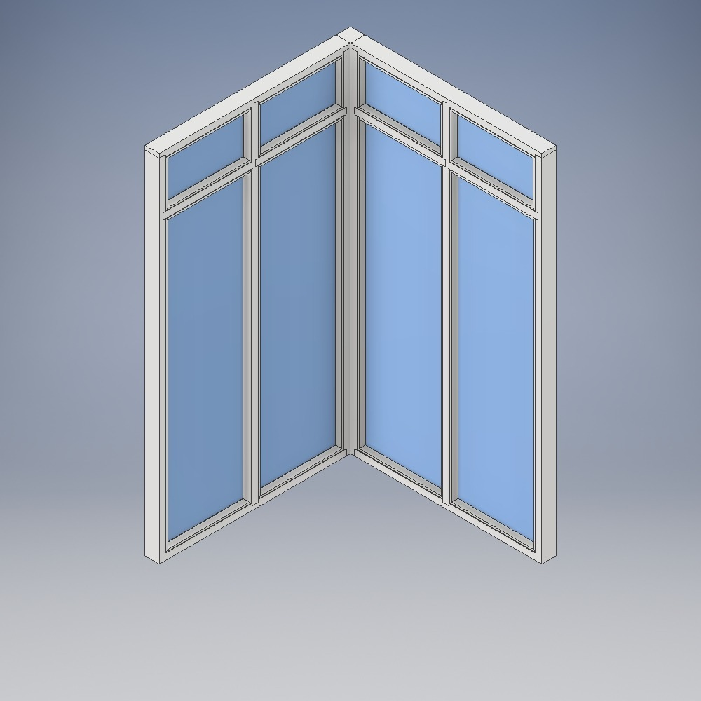 Multi-Pane Corner Screen